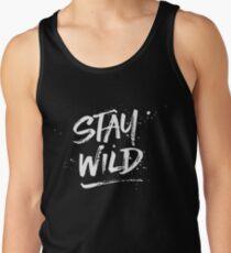 Stay Wild - White Tank Top