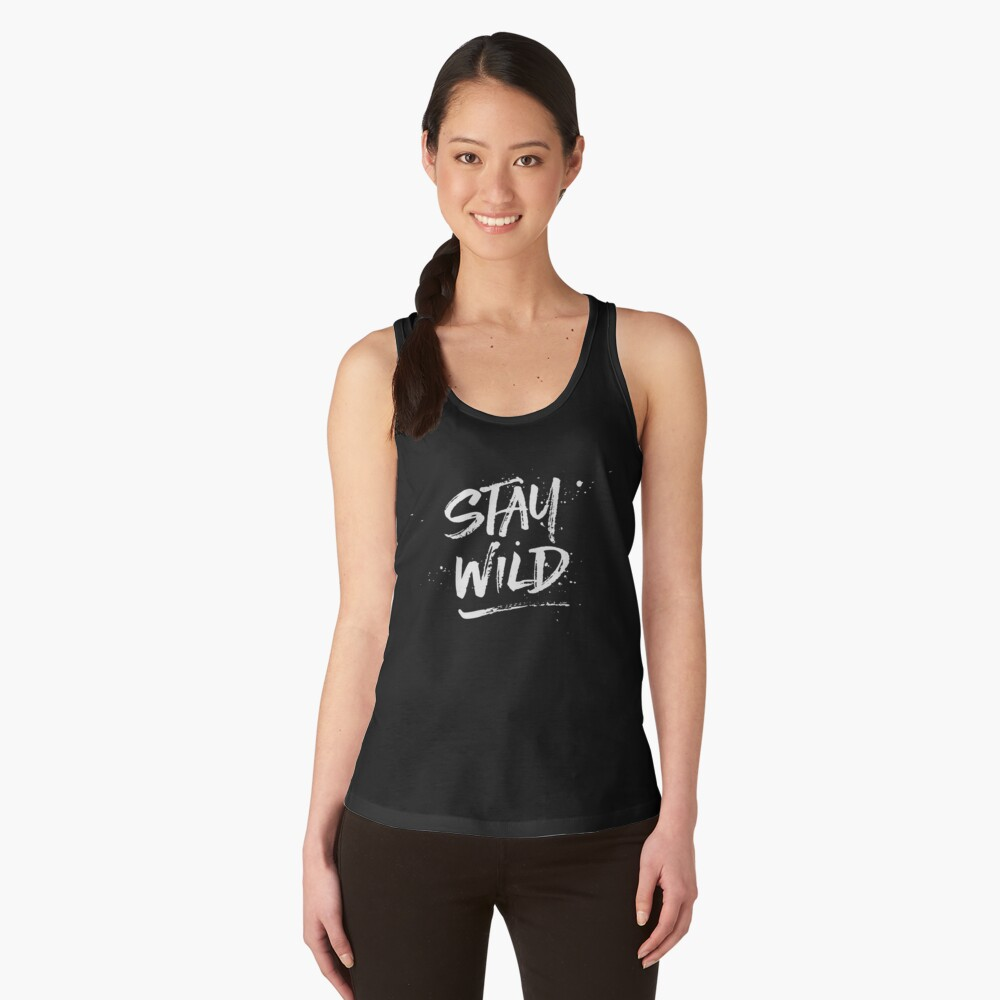 Stay Wild - White Women's Tank Top Front