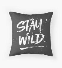 Stay Wild - White Throw Pillow