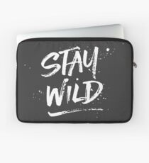 Stay Wild - White Laptop Sleeve