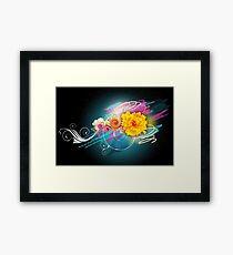 Flower Vector Framed Print