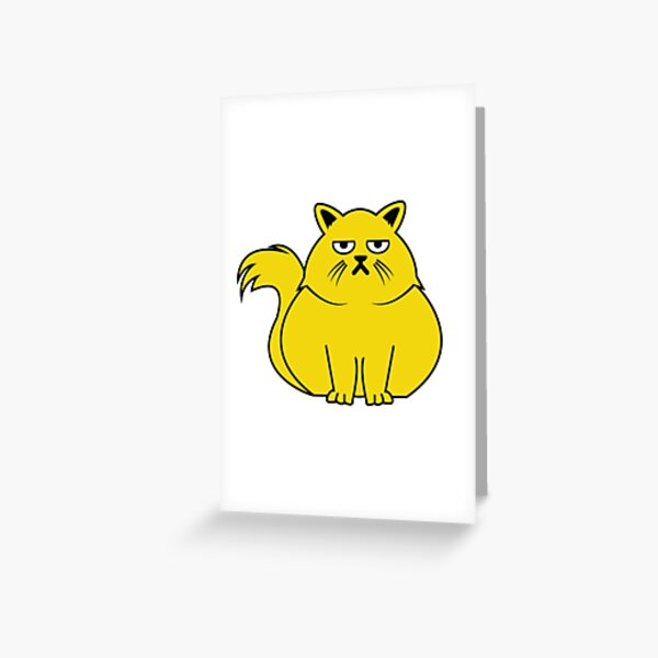 Pudgy Cat Greeting Card