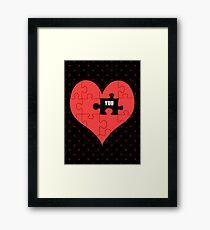Heart Puzzle (black) Framed Print