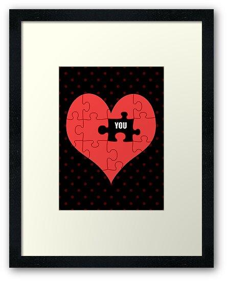 Heart Puzzle (black) by Stephanie Hardy