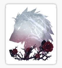 A Wolf Among Thorns Sticker