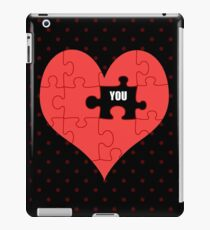 Heart Puzzle (black) iPad Case/Skin