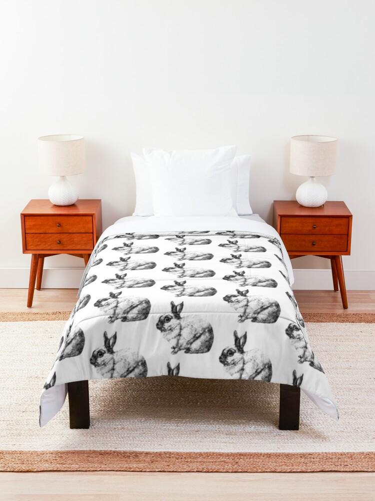 Alternate view of Cute Bunny Rabbit Comforter
