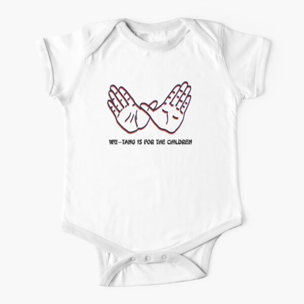 Wu-Tang Is For The Children (Red & Black)  Short Sleeve Baby One-Piece