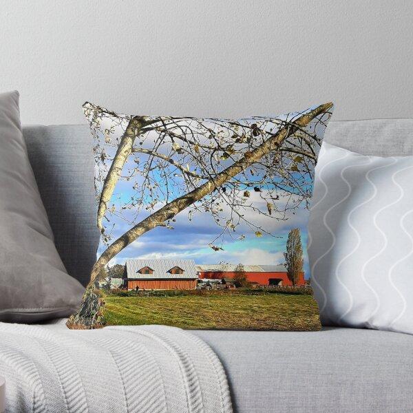 Westham Island Herb Farm Throw Pillow