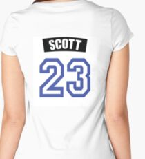 One Tree Hill Nathan Scott Jersey Women's Fitted Scoop T-Shirt