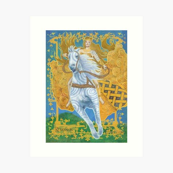 Celtic Goddess- Rhiannon Art Print