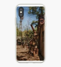 Old Farm and Windmill iPhone Case