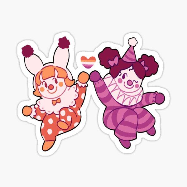 LGBT Lesbian Clowns Sticker