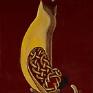 Celtic Cat in Burgundy by aussiebushstick