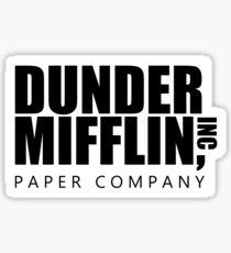 Dunder Mifflin Logo - B/W Sticker Sticker