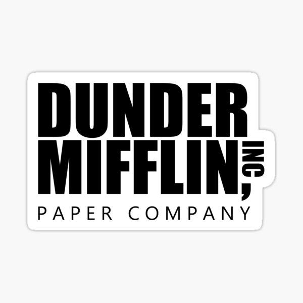Dunder Mifflin Logo - Etiqueta engomada B / W Pegatina