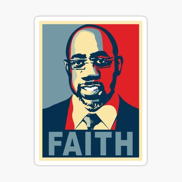 Rev Raphael Warnock Senator Pastor: Black History Keep the Faith Sticker