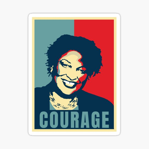 Stacey Abrams Black History Courage Georgia Voting Sticker