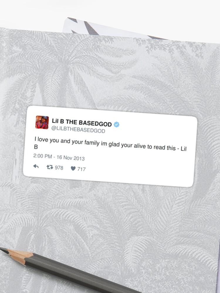 Lil B Tweet - love you | Sticker