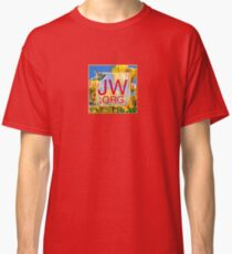 JW.org Logo With Tulips and Humingbird Classic T-Shirt