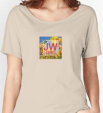 JW.org Logo With Tulips and Humingbird Women's Relaxed Fit T-Shirt