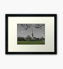 Norwich Cathedral; Green Grass Framed Print