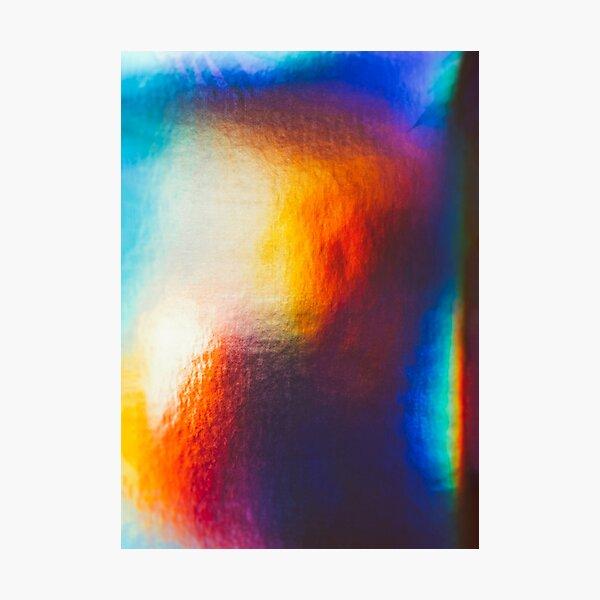 Refraction Metallic Rainbow Aesthetic Photographic Print