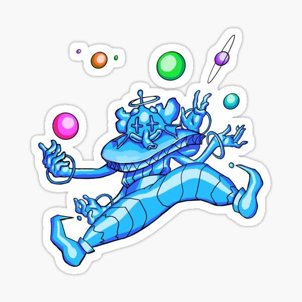 Space clown Sticker