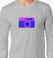 YASHICA Illustration Pink & Blue T-Shirt