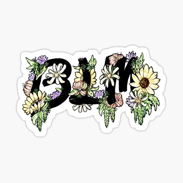 BLM - Black Lives Matter Floral Sticker