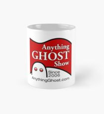 Anything Ghost Black and Red Logo Mug