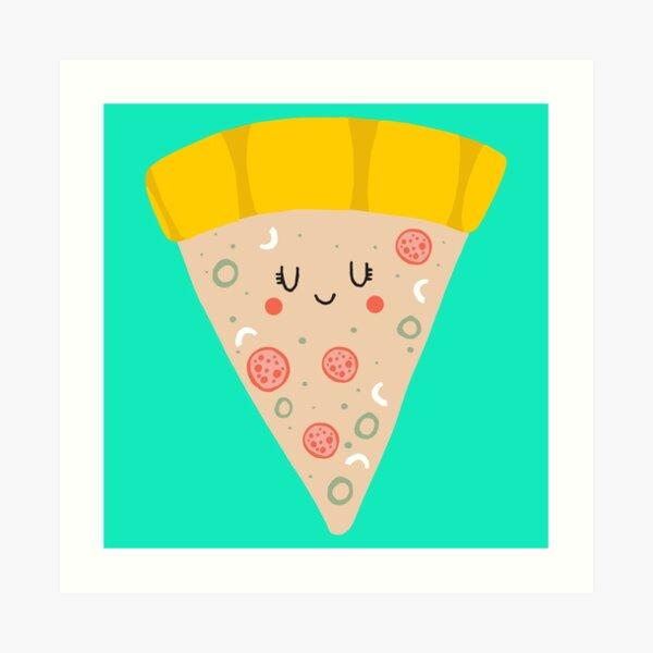Cute funny smiling PIZZA slice Art Print