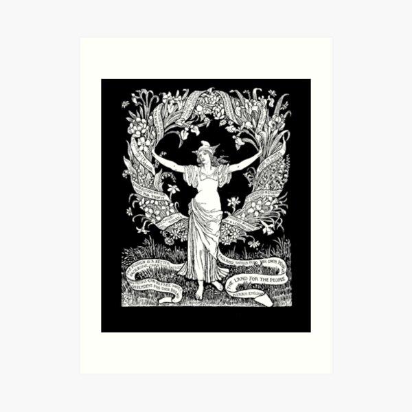 Walter Crane: A Garland for May Day 1895 Art Print