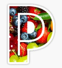 The Letter P - Fruit Sticker