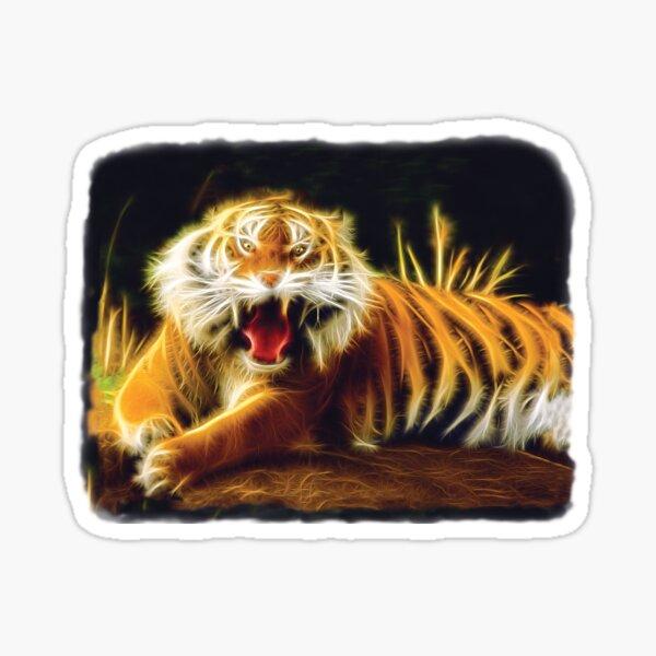 Fractal Tiger Sticker