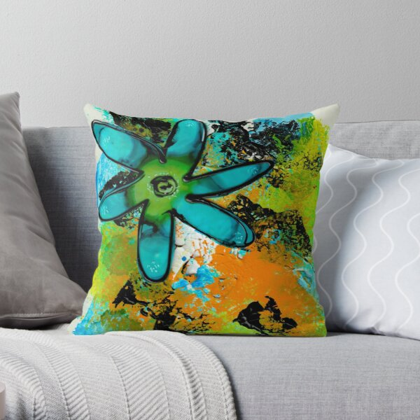 BLUE WHIMSY Throw Pillow