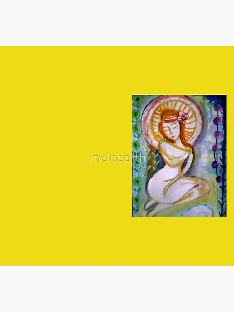 Pretty Goddess Woman, Self love & self care, redhead girl, abstract Floral art   by meloearth