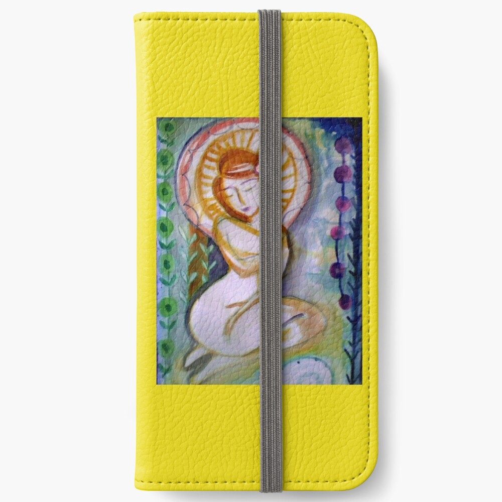 Pretty Goddess Woman, Self love & self care, redhead girl, abstract Floral art   iPhone Wallet