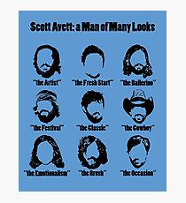 Scott Avett: a Man of Many Looks Photographic Print