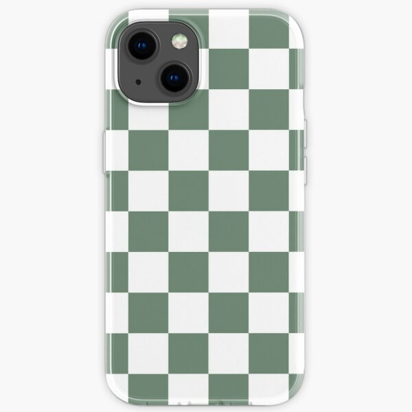 Forest Green Checkerboard iPhone Soft Case