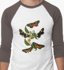 FF - Butterfly-2 Men's Baseball ¾ T-Shirt
