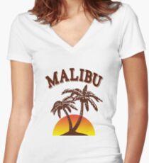 Malibu rum  Women's Fitted V-Neck T-Shirt