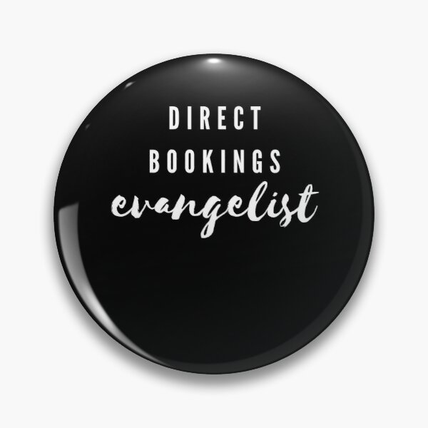 Direct Bookings Evangelist White Logo Pin