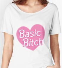 Basic Bitch Blue Women's Relaxed Fit T-Shirt