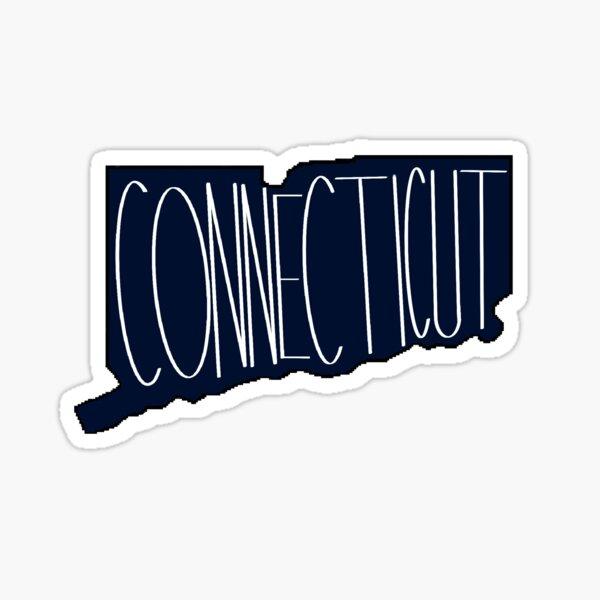 Connecticut in Collegiate Navy Sticker