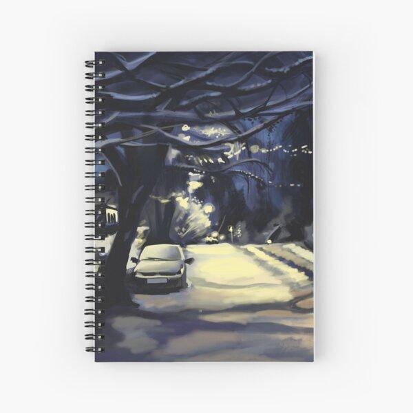 Walking Home in Winter Spiral Notebook