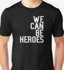 David Bowie We Can Be Heroes Tribute Charity Legend T-Shirt