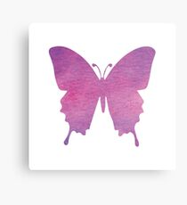 butterfly (watercolour) Canvas Print