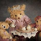 """"""" Tea Party Bears """" ... Still Life  by Malcolm Heberle"""