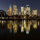 Ships in the night - Melbourne Australia by Norman Repacholi